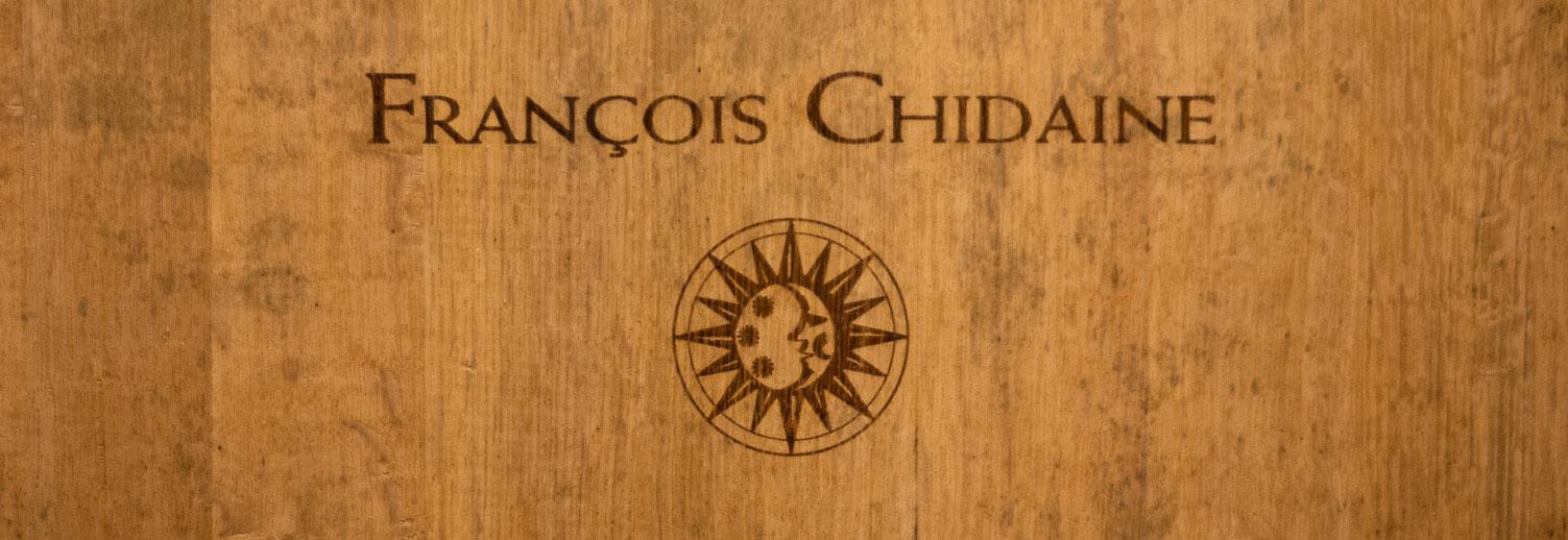 Chidaine - Logo sur fût de chêne