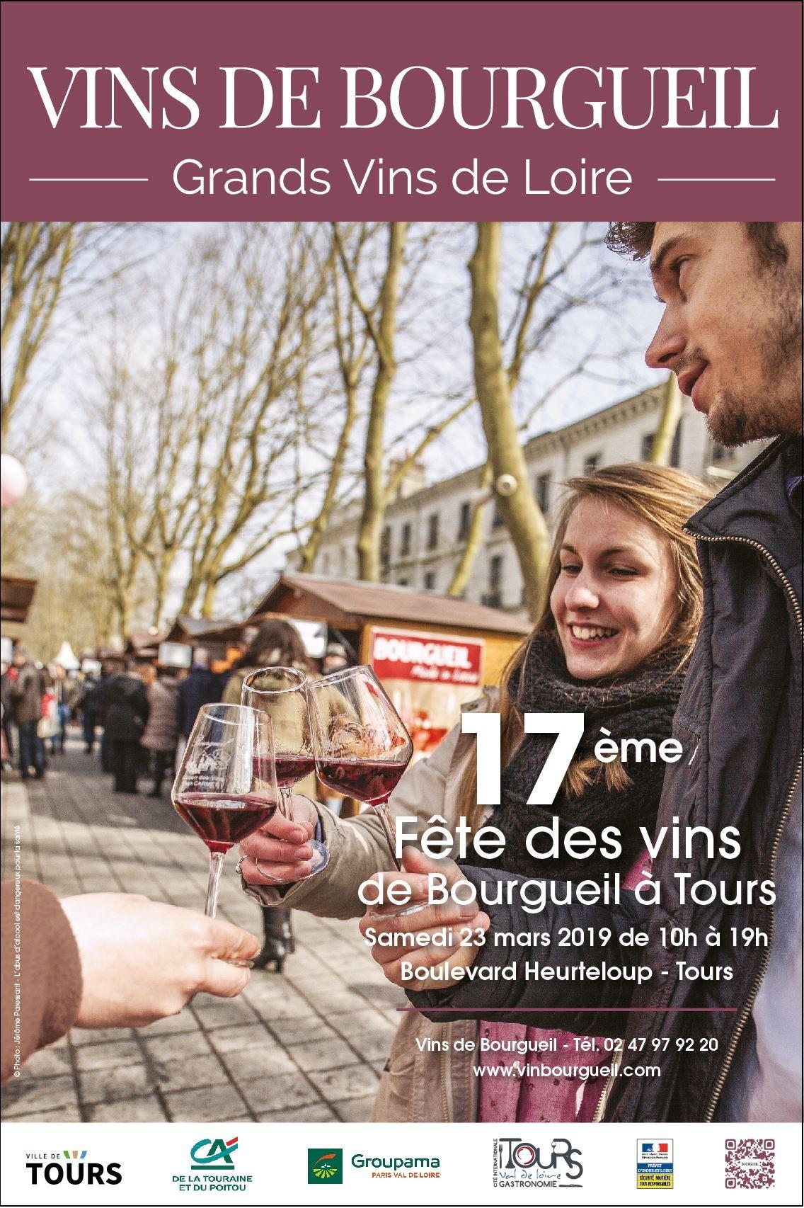 Affiche fête des vins de Bourgueil à Tours 2019